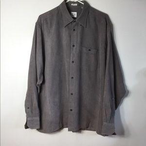 Geoffrey Beene Shirts - L Greoffrey Beene microsude men's Long Sleeve